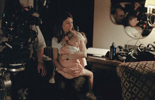 Sofia Coppola on the set of Somewhere
