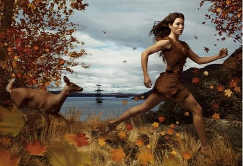 Jessica Biel by Annie Leibowitz