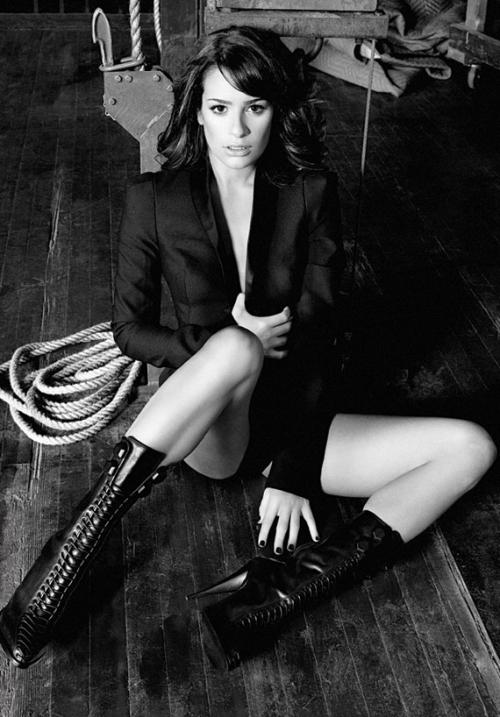Lea Michele_Glee_Marie Claire 2011