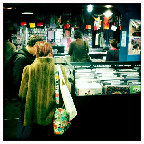 Inside BM Soho records on Record Store Day 2011