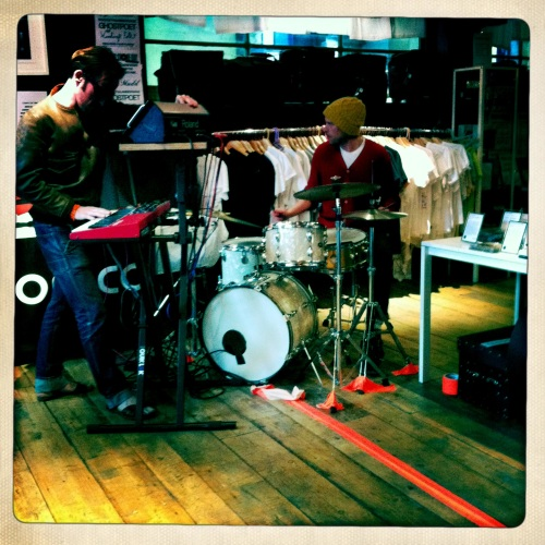 Band in Phonica Records, on Record Store Day 2011