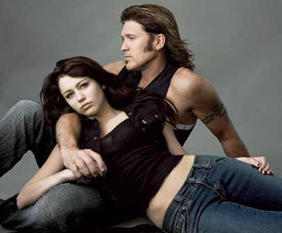 Miley Cyrus, Billy Ray Cyrus by Annie Leibowitz