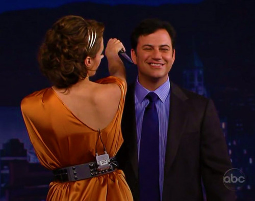 Stana Katic on Jimmy Kimmel