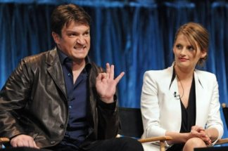 Castle, nathan Fillion, Stana Katic, Paleyfest